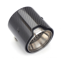 4Pcs 71MM IN 93MM OUT Exhaust tip Glossy Real Carbon Fiber For BMW M M2 F87 M3 F80 M4 F82 F83 M5 F10