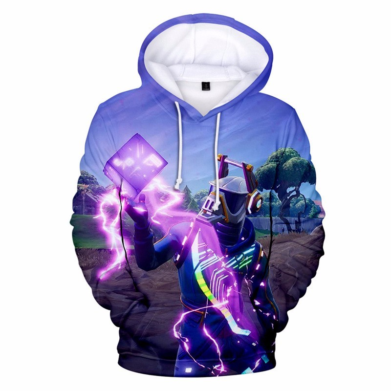 New Adult Kids Battle Royale Hooded Sweatshirt Men Women 3D Printed Cute Hoodies Children Birthday Party Gift Costume Fortniter
