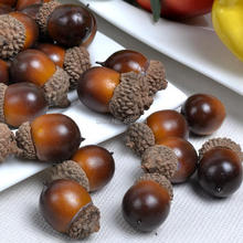 Gresorth 50pcs Artificial Lifelike Acorn Decoration Fake Fruit Home House Kitchen Table Party Cabient DIY Material