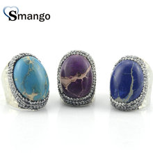 5Pieces,Women Fashion Jewelry, Natural Rhinestone Rings 3Colors, Can Mix Color  Wholesale