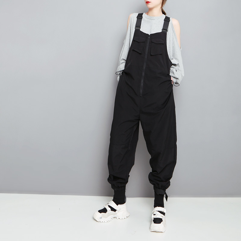 Women Bib Overalls Female Work Coveralls Protective Repairman Strap Jumpsuits Pants Working Uniforms Sleeveless Coverall DH007