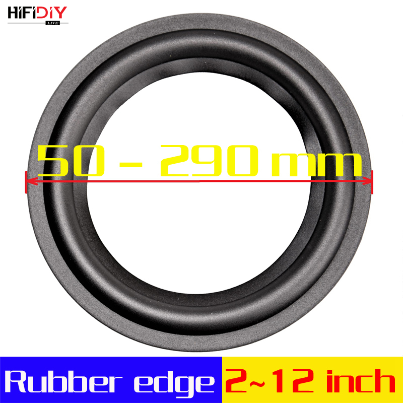 hifidiy-live-4-12-inch-woofer-speaker-repair-parts-rubber-surround-edge-folding-ring-subwoofer-100~300mm-4-5-65-7-8-10-12