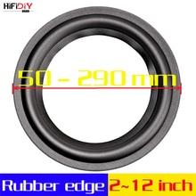 Hifidiy Live peças de reparo de alto falante, woofer, 4 12 polegadas, borda envoltória de borracha, anel dobrável, subwoofer (100~300 mm) 4, 5, 6.5, 7, 8, 10, 12