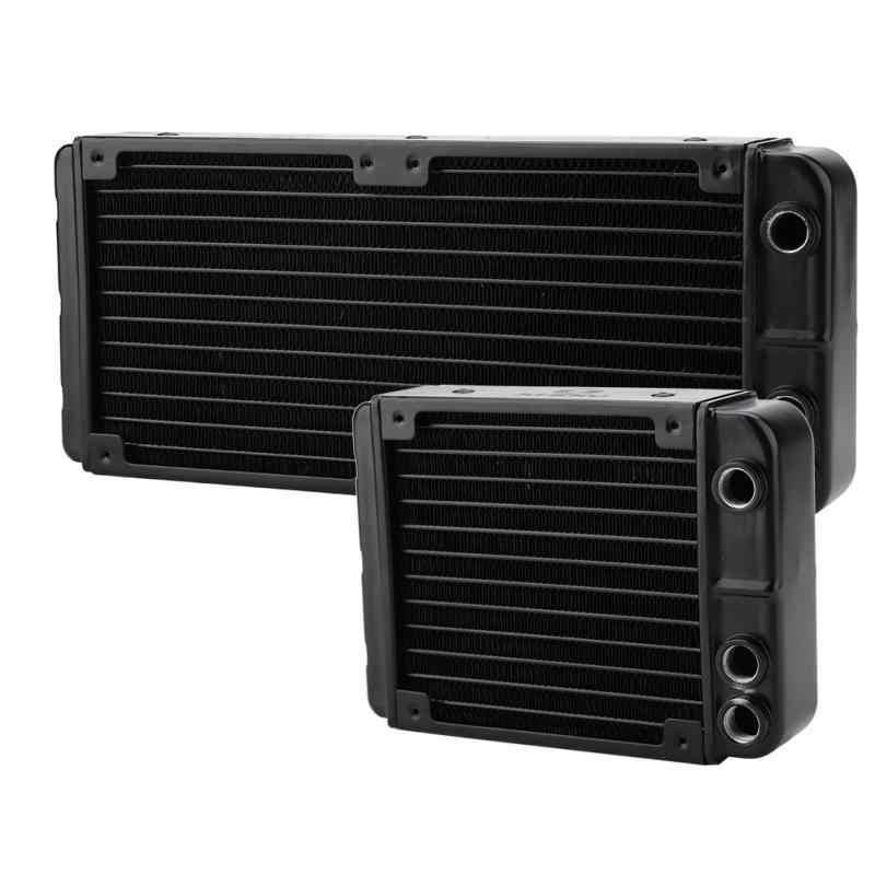 新 DIY G1/4 肥厚アルミヒートパイプ放熱器 12 パイプ PC 水冷ヒートシンク 240 ミリメートル/ 120 ミリメートル
