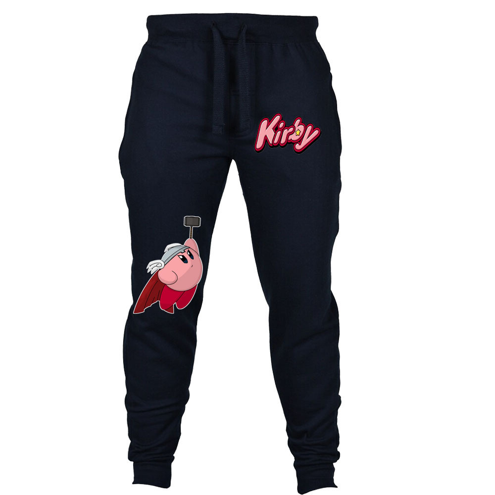 Game Anime Kirby Sweatpants Cosplay Pants Autumn Winter Men Joggers Fitness Long Trousers Sweatpants
