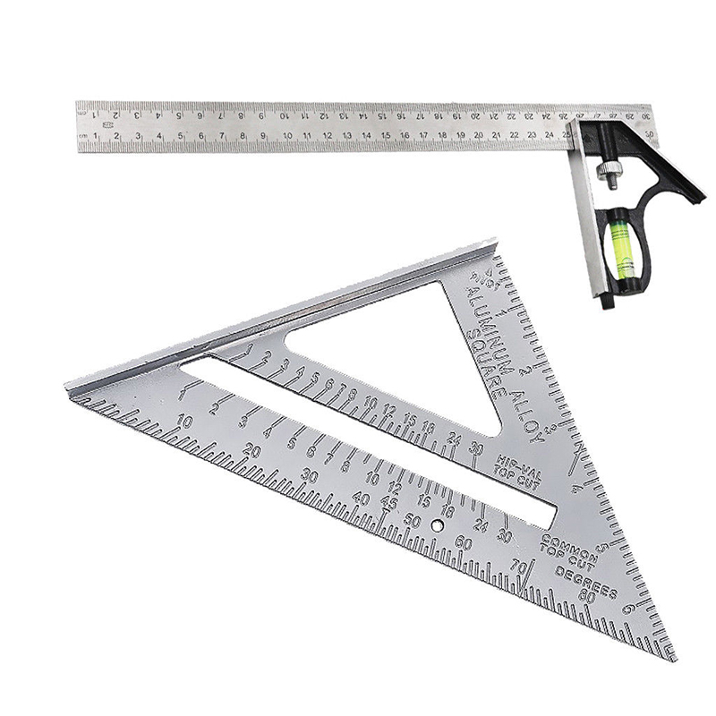 Heavy Duty Combination Engineers Square Measure Try Rule & Right Angle Ruler