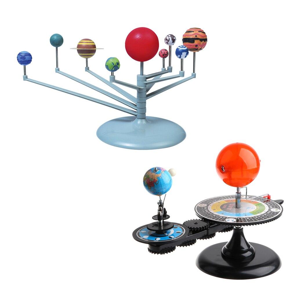 Sun Earth Moon modèle Orbital + système solaire planétarium modèle Science bricolage projet cadeau d'anniversaire pour enfants enfants étudiant - 5