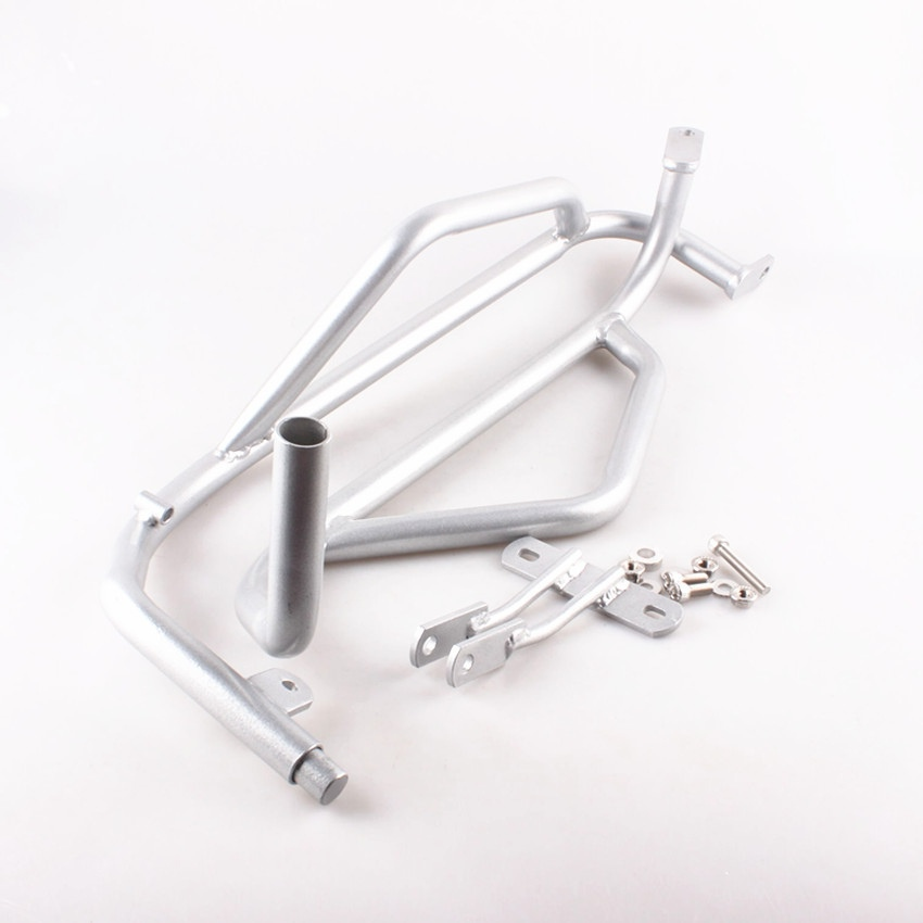 For <font><b>Honda</b></font> <font><b>NC700X</b></font> NC750X 2012 2013 2014 2015 Steel Silver Motorcycle accessorie Engine <font><b>Crash</b></font> <font><b>Bars</b></font> Guard Protection image