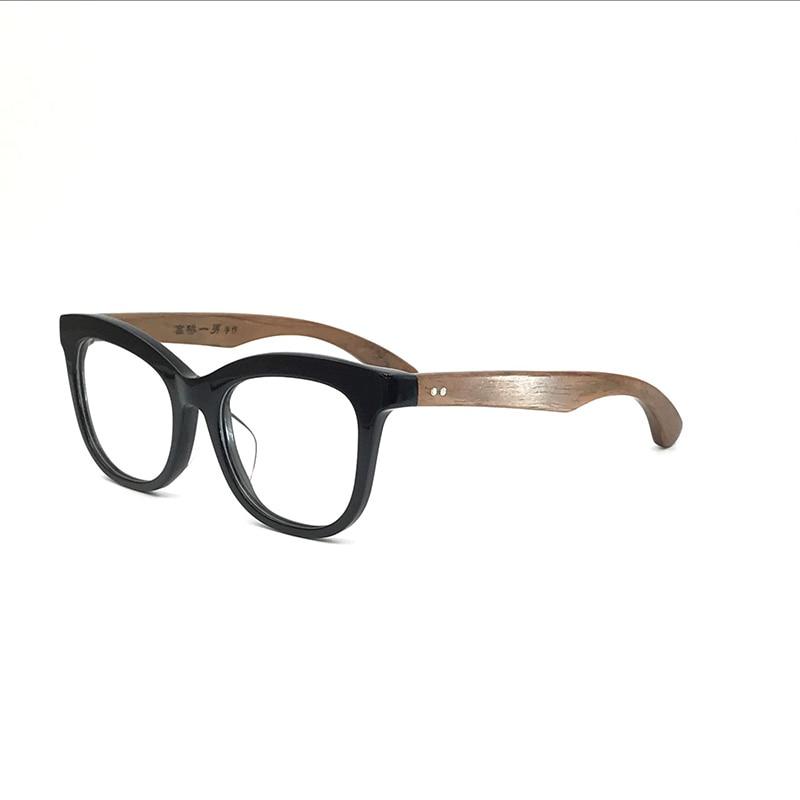 Montures de lunettes faites à la main hommes femmes lunettes myopes Prescription bois de rose Temple haute qualité montures de lunettes optiques complètes