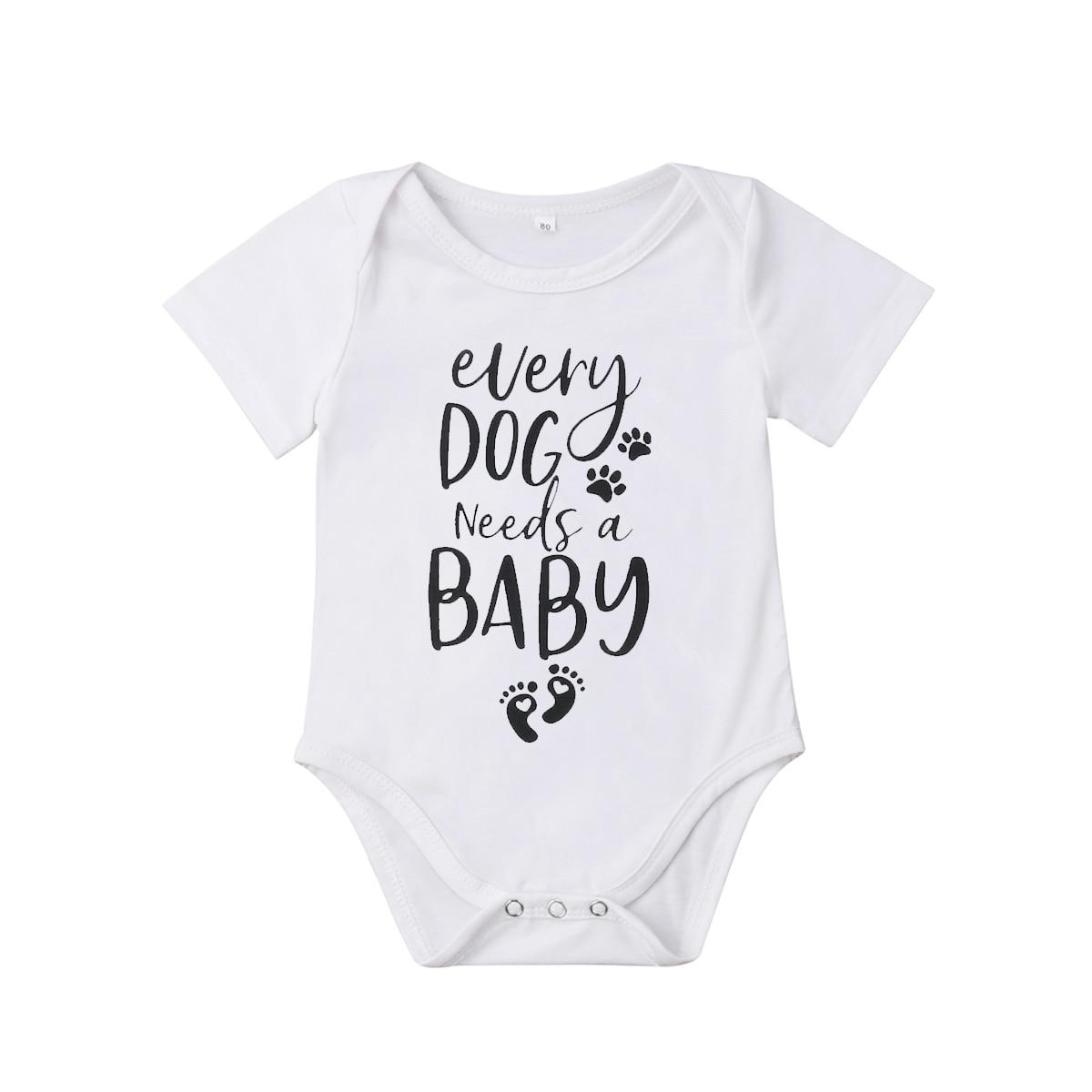 Accessoires Baby Infant Kleinkind Buchstabe-Druck Kurz Ärmel Strampelanzug Body Jumpsuit