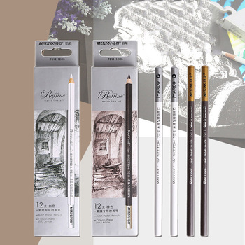 1Piece Art Soft Drawing Pencils Standard Brown White Professional Sketching Painting For Artist School Supplies - discount item  30% OFF Pens, Pencils & Writing Supplies