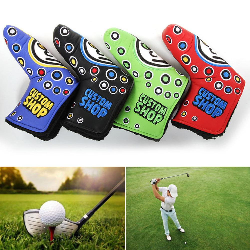 1pcs Club Heads Golf Head Covers PU Numbers Club Accessories Golf Putter Cover Headcover for Golf