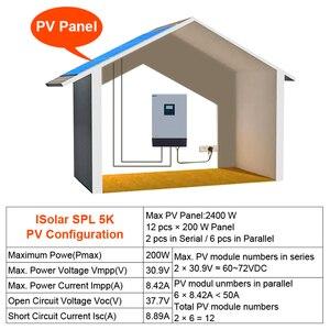 Image 5 - 5KVA 4000W güneş hibrid invertör saf sinüs dalga 220VAC çıkış güneş invertör dahili PWM 48V 50A güneş şarj regülatörü