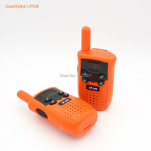 GoodTalkie UT108 2pcs Portable Toy 2-Way Radio 5KM Range Walkie Talkies kaiyue 9110 4w 408 410mhz headset walkie talkies green 2 pcs 6 x ag10