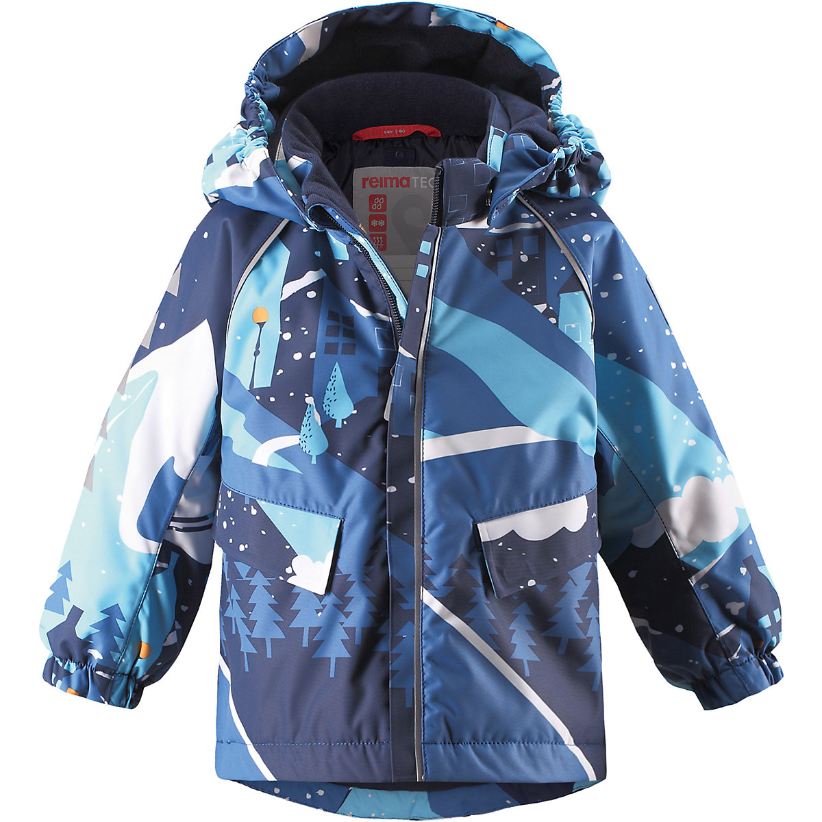 REIMA Jackets 8689187 For boys Polyester  winter fur baby clothing boy Jacket santic mc07004v outdoor cycling windproof sunproof polyester jacket for men fluorescent green xl