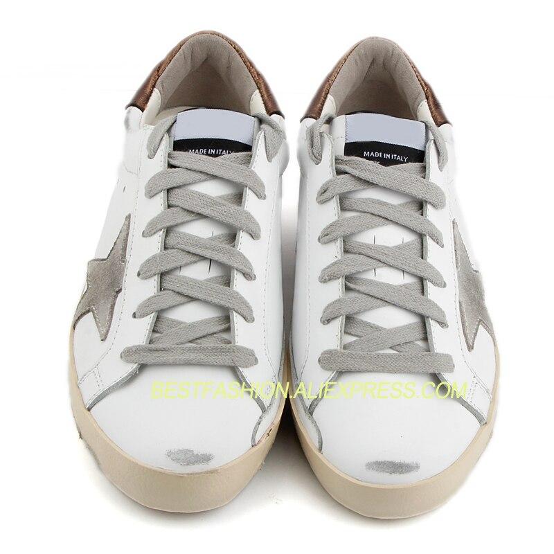 69141c6f454d5 Viejo Cuero Genuino Blanco Hacer Zapatos Vaca Casual Sucio La De Up  Respirable Estrellas Simple Mujeres Lace fBw4fq