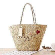 6334743f73e4 VRTREND для женщин сумки соломы пляжная сумка через плечо дамы повседневное  праздник плетеная корзина Южная Корея новый летний с.