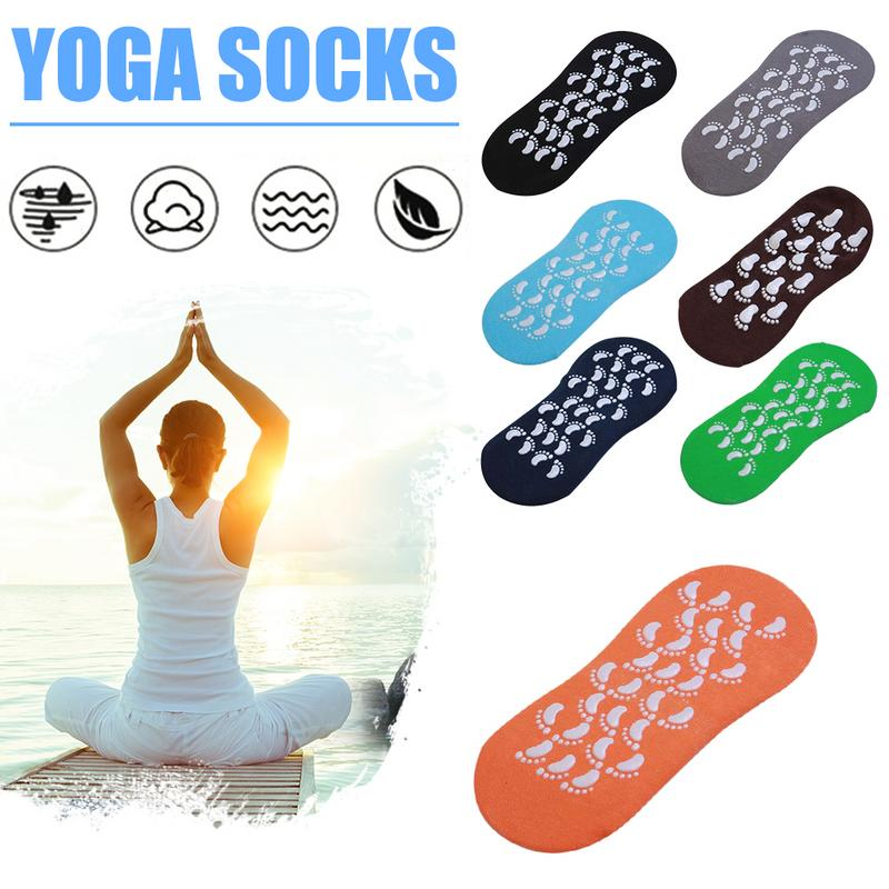 Yoga Cotton Socks Home Living Adult Socks Size 35 42 Yards Indoor Trampoline Non Slip Air Permeability Sweat Absorption Socks