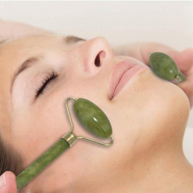 Facial Roller Natural Jade Quartz Face Jade Stone Roller Beauty Massage Tool Face Lift Massager Dropshipping 1