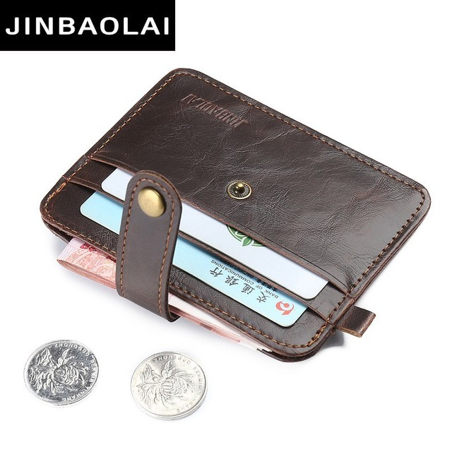info for c5150 becf0 US $2.6 20% OFF|2018 Vintage Slim Mini Wallet PU Leather Credit Card Holder  Case ID Pocket Purses Travel Wallet Magic Purses Card Case Business-in ...