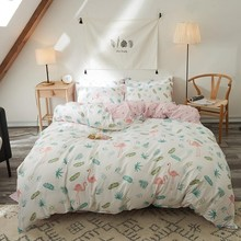 Bedding Set With 2-4pcs Full Bed Sheet Flamingo Animal Duvet Cover Twin Bedding Sets And Pillowcase Comforter Queen/King Size цены