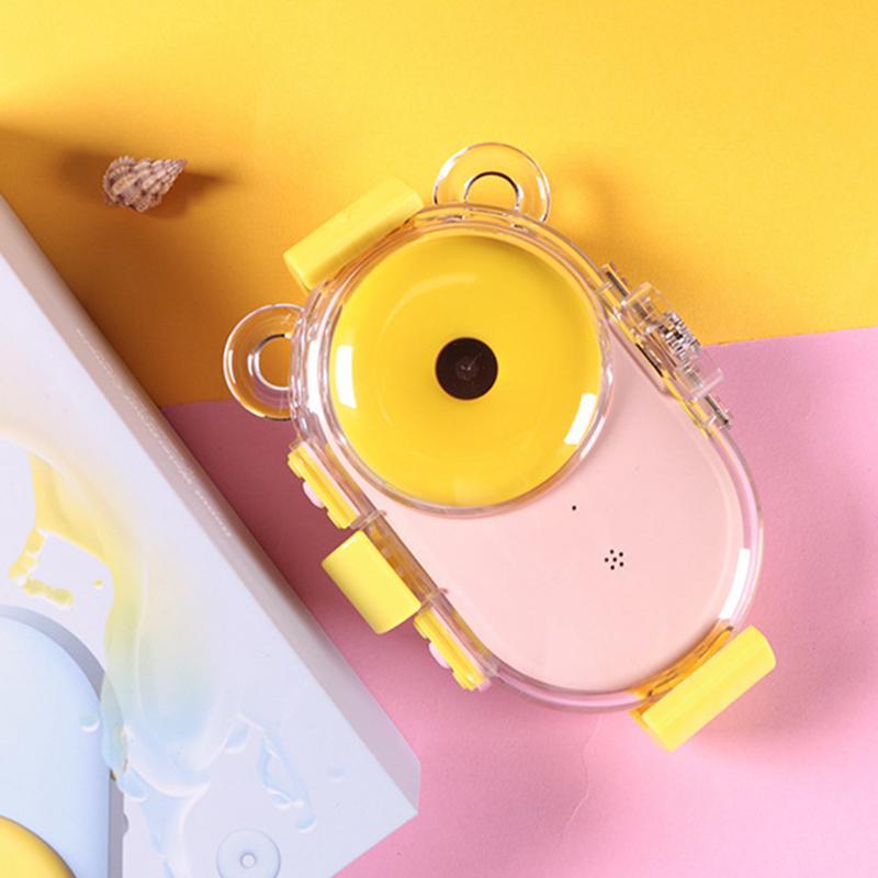 Appareil photo numérique en forme de beignet de sport pour enfants avec écran LCD étanche 3 M résolution HD Zoom Flash caméra de plongée pour enfants - 4