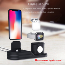 3 In 1 Charging Dock Station Bracket Cradle Stand Holder Charger for IPhone X 8 7 6S Plus 5S Dock for Apple Watch Iwatch Charger