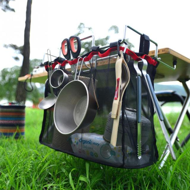 Mesh Camping/Barbecue With Iron Rack Portable Storage Bag Outdoor Picnic