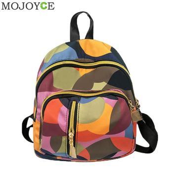 1ac1e61a154b5 Yeni Tiki Tarzı Geometrik Kadın Sırt Çantası Kız okul çantası Bayanlar  seyahat omuz çantası Öğrenci Okul Sırt Çantaları bolsa feminina