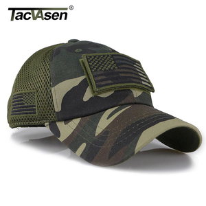 Image 4 - TACVASEN Taktische Camouflage Baseball Caps Männer Sommer Mesh Military Armee Caps Gebaut Trucker Cap Hüte Mit USA Flagge Patches