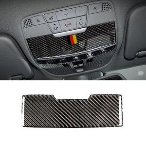 Image 2 - Dla Mercedes Benz C klasa W205 C180 C200 C300 GLC260 z włókna węglowego samochodów przednie światło do czytania Panel pudełko na okulary przeciwsłoneczne okładka