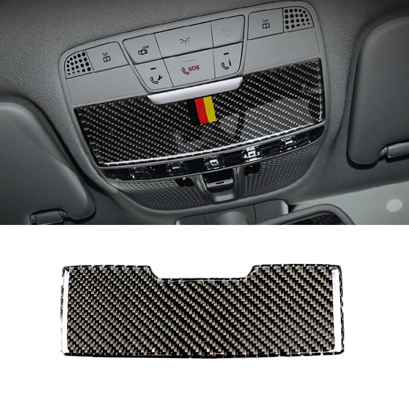 Image 2 - For Mercedes Benz C Class W205 C180 C200 C300 GLC260 Carbon Fiber Car Front Reading Light Panel Sunglasses Box Cover-in Interior Mouldings from Automobiles & Motorcycles