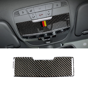 Image 2 - Per Mercedes Benz Classe C W205 C180 C200 C300 GLC260 Auto In Fibra di Carbonio Luce di Lettura Anteriore Pannello Occhiali Da Sole Coperchio Della Scatola