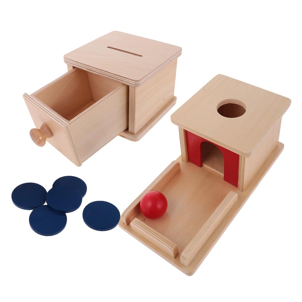Tirelire en bois boîte assortie ensemble enfants Montessori jouets éducatifs cadeau d'anniversaire