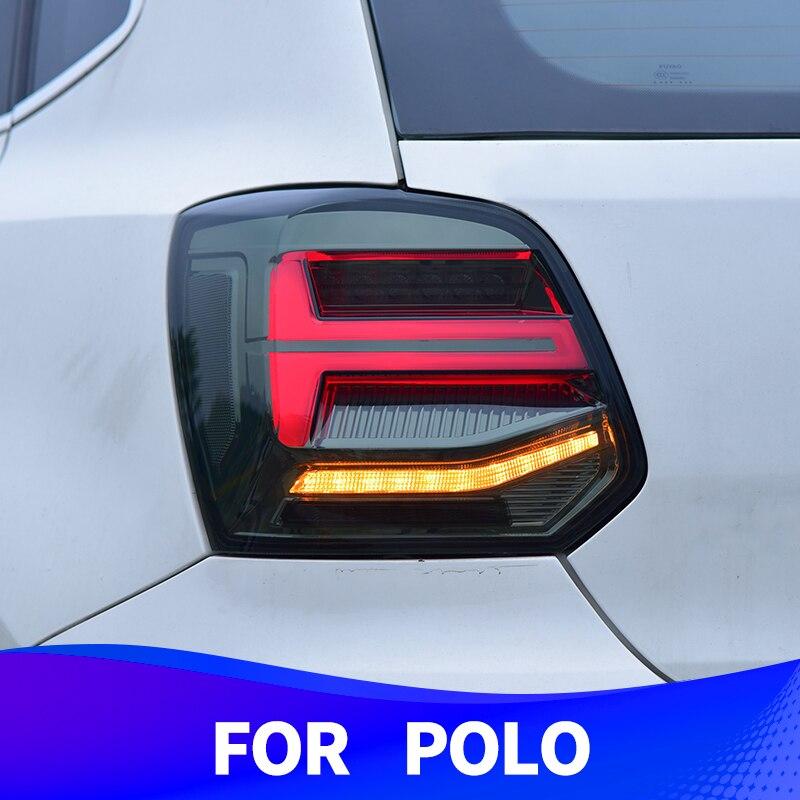 Задний светильник в сборе для Volkswagen POLO 2010-2018 светодиодный задний светильник поворотный сигнальный тормозной светильник задний светильник