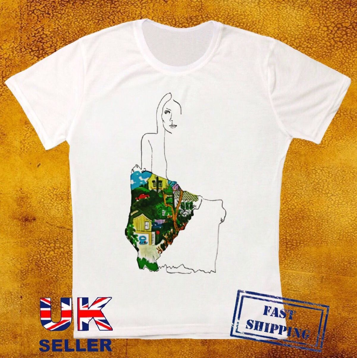 JONI MITCHELL LADIES OF THE CANYON ALBUM RETRO VINTAGE HIPSTER UNISEX T SHIRT New Mens Spring Summer Dress Short Sleeve Casual in T Shirts from Men 39 s Clothing
