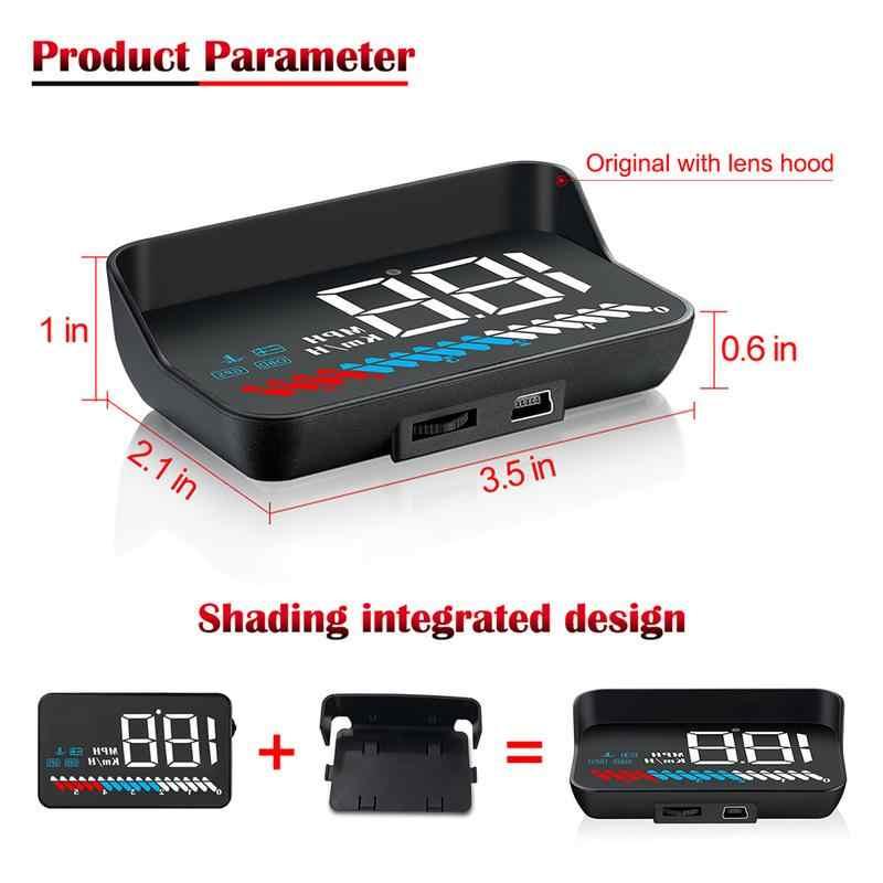 M7 سيارة OBD2 هود GPS عداد السرعة رئيس متابعة العرض OBD الزجاج الأمامي العارض الرقمية سرعة الإسقاط مع الشمس هود قوس