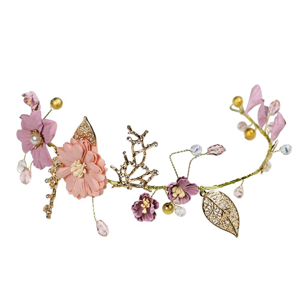 1 Stück Hochzeit Stirnband Blumen Gold Blätter Bridal Headwear Haar Zubehör Kopfschmuck Headwear Für Hochzeit