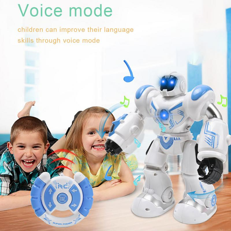 Image 5 - Early Childhood Education Intelligent Electric Remote Control Robot LED Light Singing Dancing Full Presentation RC Robot Toy-in RC Robot from Toys & Hobbies