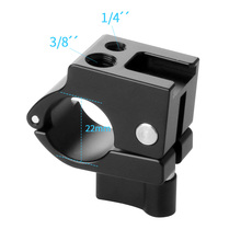 Rod Clamp Mount 22mm/25mm Monitor Holder with 1/4 inch 3/8 Screw Cold Shoe Adapter for DJI Ronin M MX Zhiyun Crane2