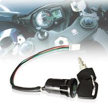 Универсальный мотоциклетный зажигание мотоцикла переключатель ключ с проводом для Honda/Quad для Yamaha для Suzuki Скутер ATV Moto аксессуары
