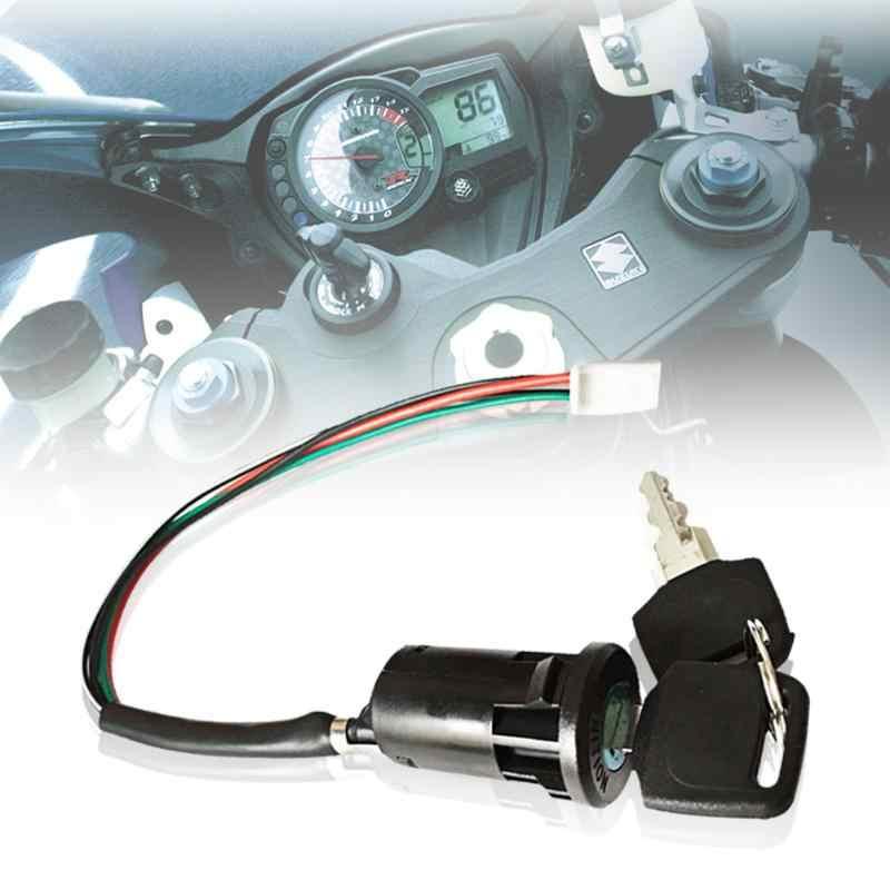 Interruptor universal de ignição de motocicleta, chave com fio para honda/quad para yamaha para suzuki scooter atv moto acessórios