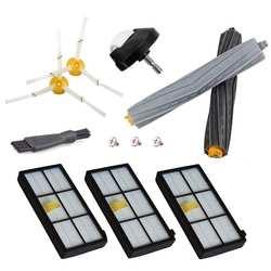 Запчасти для авто для iRobot Roomba 860 880 805 860 980 960 Пылесосы с 2 Hepa фильтр, 2 боковая щетка, 2Tangle-Free мусора экстракт