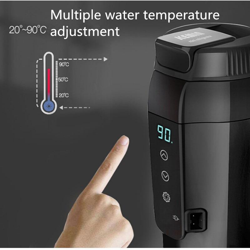 12 В 350 мл Автомобильная электроника, автомобильная нагревательная чашка, электрическая кружка с подогревом, водонагреватель для кипячения, автомобильный чайник для путешествий, портативная Термокружка - 6