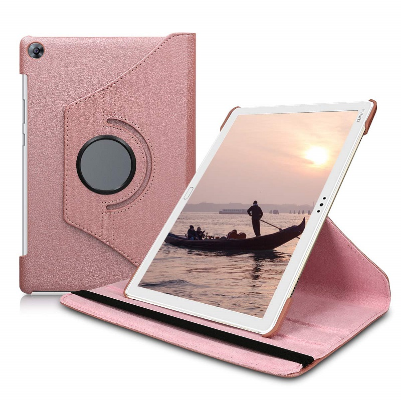 For Huawei MediaPad M5 Lite 10 BAH2-W19/L09/W09 Case 360 Rotationg Flip Pu Leather Smart Stand Cover For Media Pad M5 Lite 10.1