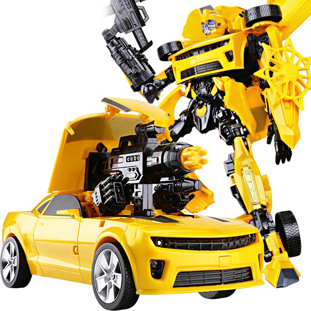 45cm Transformation Robots Car Lights Music Universal Variant Car Model Toys for Children US Movie Cartoon People Peripheral