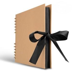 LUDA 80 страниц фотоальбом скрапбук для фотоальбома крафт бумага сделай сам Скрапбукинг Свадебный фотоальбом юбилейные подарки
