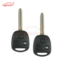 Kigoauto 2pcs 3 button 434Mhz TOY43 blade with 4D67chip for Toyota Land Cruiser FJ Cruiser Remote car key for toyota land cruiser fj car stickers appearance decoration fj land cruiser personality dynamic body appearance stickers
