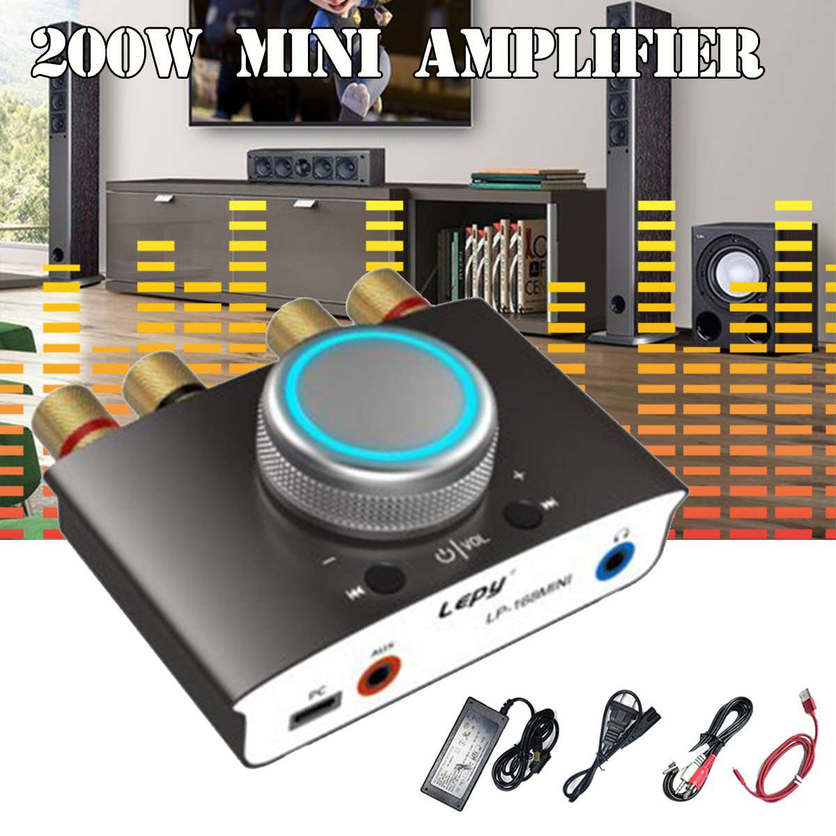 Mini Bluetooth 4 2 Digital 100W 2 Amplifier DSP HIFI Stereo Sound High Power Amp With