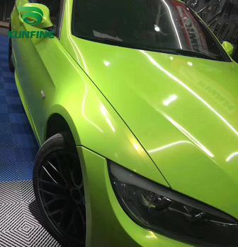 Car Styling Wrap Dream gold Sprout green Car Vinyl film Body Sticker Car sticker With Air Free Bubble For Motorcycle Car Tuning